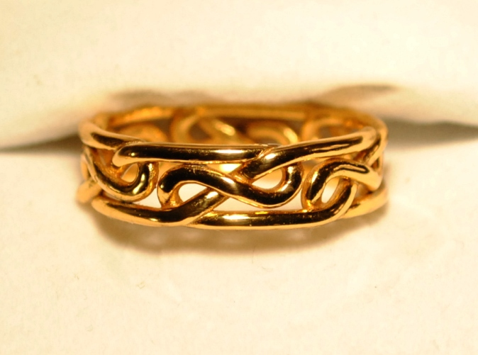 Celtic Eternity Knot Ring Or Celtic Infinity Knot Ring