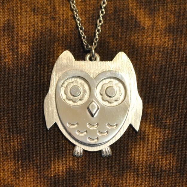 3D Printed Jewelry - Owl Pendant