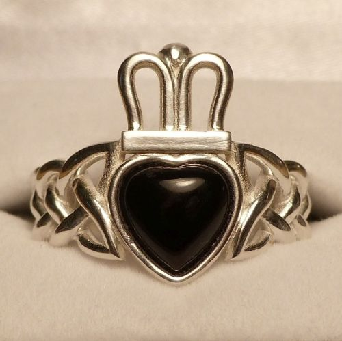 Onyx Claddagh Ring