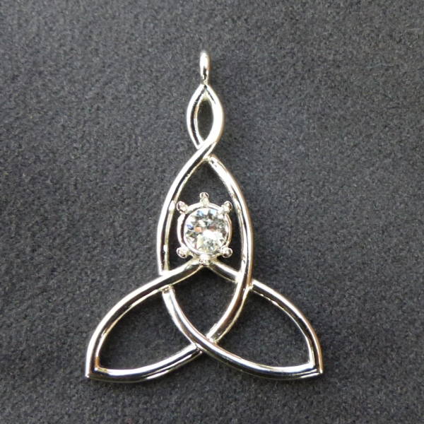 Platinum Mother-Child Knot Pendant